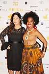Another World's Marcia Gay Harden with Rhonda Ross - Hearts of Gold All That Glitters 25th Anniversary VIP Reception and Live Auction celebrating 25 years of support to New York City's homeless mothers and their children on November 7, 2019 at the 40/40 Club, New York City, New York.(Photo by Sue Coflin/Max Photos)