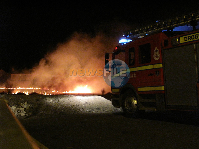 Like a scene from a war zone, Drogheda fire service attended a gorse fire on the bryanstown cross route..Picture Fran Caffrey/Newsfile.ie