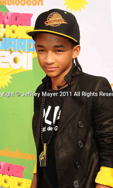 LOS ANGELES, CA - APRIL 02: Jaden Smith arrives at Nickelodeon's 24th Annual Kids' Choice Awards at Galen Center on April 2, 2011 in Los Angeles, California.