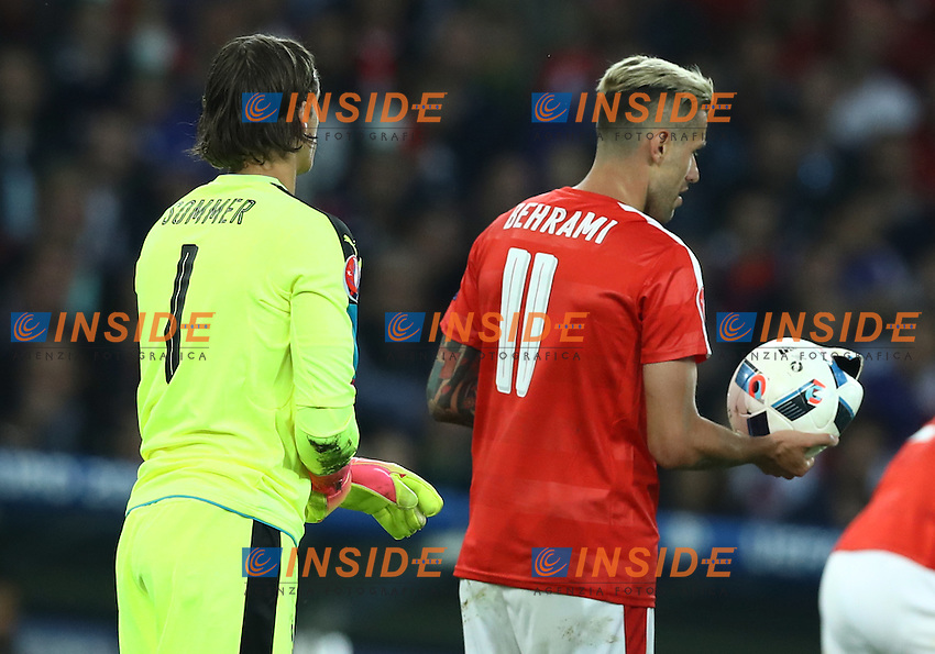 Valon Behrami Switzerland with the bursted ball after a tackle<br /> Lille 19-06-2016 Stade Pierre Mauroy Footballl Euro2016 Switzerland - France  / Svizzera - Francia Group Stage Group A. Foto Matteo Ciambelli / Insidefoto