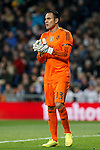 Real Madrid´s goalkeeper Keylor Navas during La Liga match at Santiago Bernabeu stadium in Madrid, Spain. March 15, 2015. (ALTERPHOTOS/Victor Blanco)