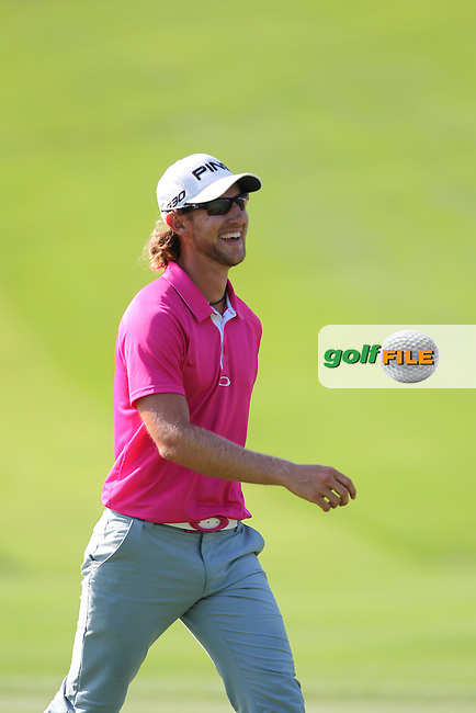 Derek Ernst of USA smiles after making a birdie putt on the  15th green during the 3rd round of the Valspar Championship, Innisbrook Resort (Copperhead), Palm Harbor, Florida, USA<br /> Picture: Peter Mulhy / Golffile