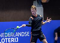 Alphen aan den Rijn, Netherlands, December 13, 2018, Tennispark Nieuwe Sloot, Ned. Loterij NK Tennis,  Michiel de Krom (NED)<br /> Photo: Tennisimages/Henk Koster