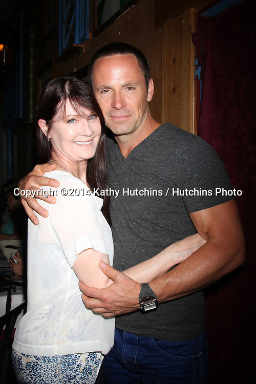 LOS ANGELES - AUG 1:  Taylor Rose, William deVry at the William deVry Fan Club Event at the California Canteen on August 1, 2014 in Los Angeles, CA