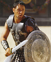 Gladiator (2000)<br /> Russell Crowe<br /> *Filmstill - Editorial Use Only*<br /> CAP/KFS<br /> Image supplied by Capital Pictures