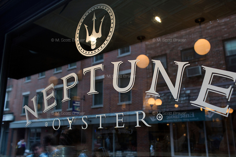 Neptune Oyster on Salem Street is a popular seafood restaurant in the North End of Boston, Massachusetts, USA.