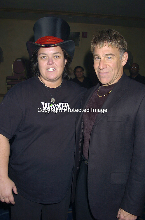 """Rosie O' Donnell and Stephen Schwartz ..at a performance of """"Pippin"""" A Concert to Benefit The National Aids Fund and The Storm Theatre on November 29, 2004 at The Manhattan Center's Grand Ballroom...PHoto by Robin Platzer, Twin Images"""