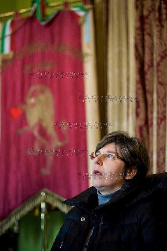Il Sindaco di Corleone, Leoluchina Savona nel suo ufficio.<br /> Leoluchina Savona, Mayor of Corleone