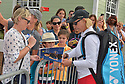 DELRAY BEACH, FL - NOVEMBER 23: Martina Navratilova signs autographs during the 30TH Annual Chris Evert Pro-Celebrity Tennis Classic - Day 2 at the Delray Beach Tennis Center on November 23, 2019 in Delray Beach, Florida.  ( Photo by Johnny Louis / jlnphotography.com )