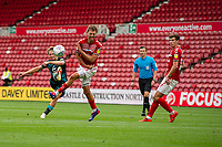 George Byers of Swansea City has a shot during the Sky Bet Championship match between Middlesbrough and Swansea City at The Riverside Stadium on June 20, 2020 in Middlesbrough, England, UK.  Saturday 20th June 2020