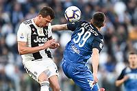 Mario Mandzukic of Juventus , Cristian Dell'Orco of Empoli  <br /> Torino 30-03-2019 Allianz Stadium <br /> Football Serie A 2018/2019 Juventus - Empoli <br /> Photo  Daniele Buffa / Image Sport / Insidefoto