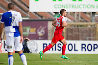 New loan signing Baily Cargill of Fleetwood Town takes the field as a substitute during the Sky Bet League 1 match between Bristol Rovers and Fleetwood Town at the Memorial Stadium, Bristol, England on 26 August 2017. Photo by Mark  Hawkins.