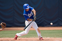 23 August 2007: Center Field #5 Kenji Hagiwara connects for a hit during the France 8-4 victory over Czech Republic in the Good Luck Beijing International baseball tournament (olympic test event) at the Wukesong Baseball Field in Beijing, China.