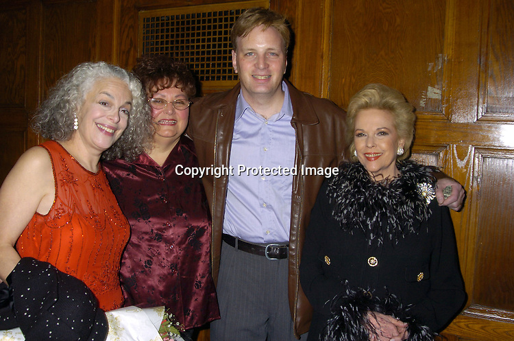 Marilyn Sokol, Pam LaTesta, Barry Kolker and Eileen Fulton ..at Labors of Love performance of Dream Out Loud on November 15, 2004 at The Lamb's theatre. ..Photo by Robin Platzer, Twin Images
