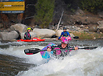 May 30, 2016 - Buena Vista, Colorado, U.S. -  Women's world champion freestyle kayaker, Emily Jackson, in action during the CKS Paddlefest, one of the Rocky Mountain Region's first adventure events of the summer in Buena Vista, Colorado.