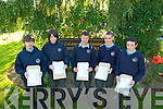 St Brendans College students L-R: Dara Hanley, Aidan Neville, Adam Fleming, Kevin Healy and Niall O'Riordan after receiving their Junior Cert Results last Wednesday morning.