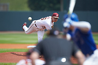 Florida State Seminoles starting pitcher Cole Sands (26) delivers a pitch to the plate against the Duke Blue Devils in the first semifinal of the 2017 ACC Baseball Championship at Louisville Slugger Field on May 27, 2017 in Louisville, Kentucky. The Seminoles defeated the Blue Devils 5-1. (Brian Westerholt/Four Seam Images)