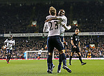 Tottenham's Christian Eriksen celebrates with provider Danny Rose after scoring his sides opening goal during the Premier League match at White Hart Lane Stadium, London. Picture date December 14th, 2016 Pic David Klein/Sportimage