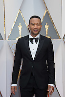 www.acepixs.com<br /> <br /> February 26 2017, Hollywood CA<br /> <br /> Musician John Legend arriving at the 89th Annual Academy Awards at Hollywood &amp; Highland Center on February 26, 2017 in Hollywood, California.<br /> <br /> By Line: Z17/ACE Pictures<br /> <br /> <br /> ACE Pictures Inc<br /> Tel: 6467670430<br /> Email: info@acepixs.com<br /> www.acepixs.com