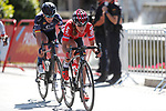 Elise Delzenne (FRA) lotto-Soudal Ladies in action during the Madrid Challenge by La Vuelta 2017 was ridden over 87km, with 15 laps on a 5.8km route around the iconic Plaza Cibeles, Madrid, Spain. 10th September 2017.<br /> Picture: Unipublic/&copy;photogomezsport | Cyclefile<br /> <br /> <br /> All photos usage must carry mandatory copyright credit (&copy; Cyclefile | Unipublic/&copy;photogomezsport)