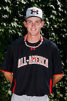 Pitcher Kyle Twomey #24 poses for a photo before the Under Armour All-American Game at Wrigley Field on August 13, 2011 in Chicago, Illinois.  (Mike Janes/Four Seam Images)