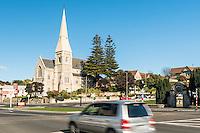 Town centre of Oamaru with church, Coastal Otago, East Coast, New Zealand