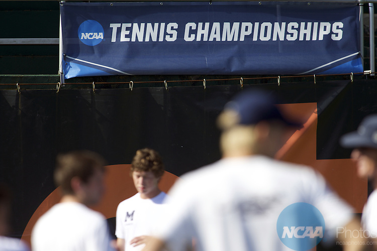 25 MAY 2016: The Division III Men's Tennis Championship, at Stowe Stadium in Kalamazoo, MI. Bowdoin College defeated Middlebury 5-0 for the national title. Tony Ding/NCAA Photos