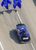 Apr. 28, 2012; Baytown, TX, USA: Aerial view of NHRA pro mod driver Kenny Lang during qualifying for the Spring Nationals at Royal Purple Raceway. Mandatory Credit: Mark J. Rebilas-