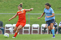 Piscataway, NJ - Saturday July 09, 2016: Cari Roccaro, Samantha Kerr during a regular season National Women's Soccer League (NWSL) match between Sky Blue FC and the Houston Dash at Yurcak Field.