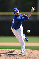 Toronto Blue Jays pitcher Greg Burke (48) during a Spring Training game against the Houston Astros on March 9, 2015 at Florida Auto Exchange Stadium in Dunedin, Florida.  Houston defeated Toronto 1-0.  (Mike Janes/Four Seam Images)