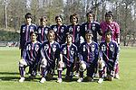 U-20U-20 Japan team group line-up (JPN), APRIL 3, 2012 - Football / Soccer : U-20 Japan team group (L-R) Shiori Kinoshita, Yushika Nakamura, Hikari Takagi, Asuka Nashikawa, Haruka Hamada, Arisa Mochizuki, front; Haruna Kawashima, Naoko Wada, Yu Nakasato, Ayu Nakada, Mina Tanaka before the Women's International Friendly match between France B and U-20 Japan in Clairefontaine, France. (Photo by AFLO SPORT)