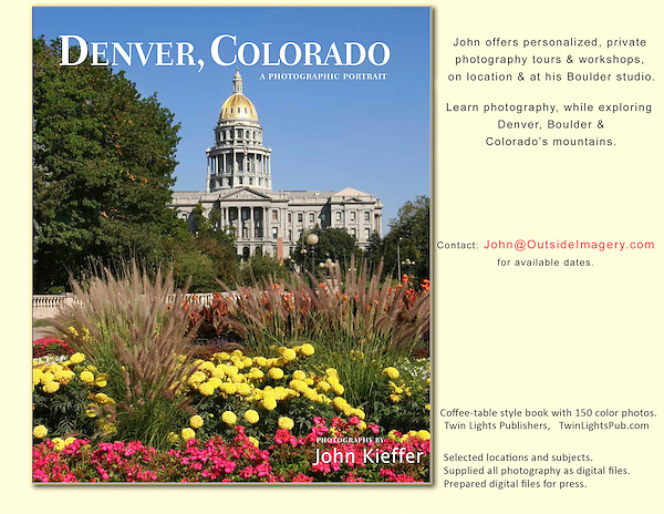 John has a long history in Denver and was excited to be asked to photograph this  hardcover book on Denver. John's 5th book: &quot;Denver, Colorado: A Photographic Portrait&quot;<br />