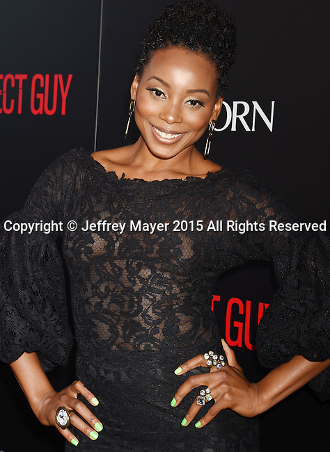 BEVERLY HILLS, CA - SEPTEMBER 02: Actress Erica Ash arrives at the premiere of Screen Gems' 'The Perfect Guy' at The WGA Theater on September 2, 2015 in Beverly Hills, California.
