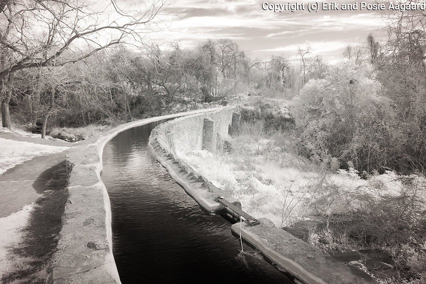 Mission San Juan aquaduct in infrared