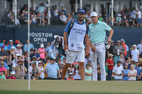 Jordan Spieth (USA) looks over his putt on 18 during round 4 of the Houston Open, Golf Club of Houston, Houston, Texas. 4/1/2018.<br /> Picture: Golffile | Ken Murray<br /> <br /> <br /> All photo usage must carry mandatory copyright credit (&copy; Golffile | Ken Murray)