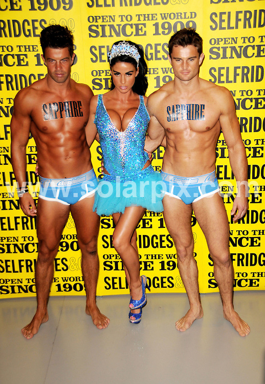 **ALL ROUND PICTURES FROM SOLARPIX.COM**.**WORLDWIDE SYNDICATION RIGHTS**.Katie Price turned back into Jordan today during her launch for her latest novel called Sapphire, at Selfridges in central London. She was helped by on-off boyfriend Anthony Lowther and his Dynamite Hosts from Ibiza. London UK. 23 July 2009..This pic: Katie Price aka Jordan..JOB REF: 9585 MSR     DATE: 23_09_2009.**MUST CREDIT SOLARPIX.COM OR DOUBLE FEE WILL BE CHARGED**.**MUST NOTIFY SOLARPIX OF ONLINE USAGE**.**CALL US ON: +34 952 811 768 or LOW RATE FROM UK 0844 617 7637**
