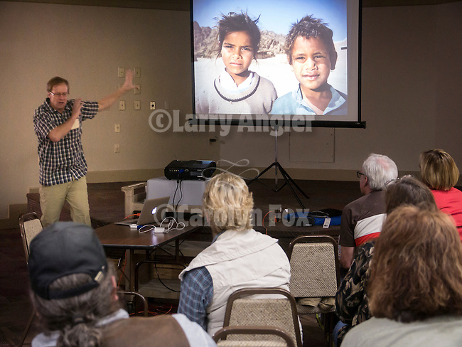 Mark Citret teaches digital black and white in the classroom at Shooting the West XXVII, Winnemucca, Nev.