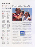 Article and photo by Ken Hurst published in Sailing World magazine July/August 2011 issue.