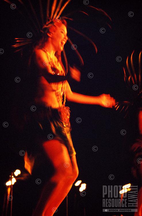 Tahitian dancer at the Royal Hawaiian Hotel luau polynesian revue