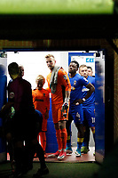 AFC Wimbledon's George Long seen prior to kick off the Sky Bet League 1 match between AFC Wimbledon and MK Dons at the Cherry Red Records Stadium, Kingston, England on 22 September 2017. Photo by Carlton Myrie / PRiME Media Images.