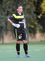 20160824 - GENT , BELGIUM : Gent's Nicky Evrard pictured during a friendly game between KAA Gent Ladies and PSV Eindhoven during the preparations for the 2016-2017 season , Wednesday 24 August 2016 ,  PHOTO Dirk Vuylsteke   Sportpix.Be