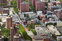 aerial photograph Harlem, Manhattan, New York City