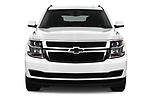 Car photography straight front view of a 2017 Chevrolet Suburban LS 5 Door SUV Front View