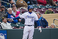 Francisco Pena (26) of the Omaha Storm Chasers at bat against the Memphis Redbirds in Pacific Coast League action at Werner Park on April 24, 2015 in Papillion, Nebraska.  (Stephen Smith/Four Seam Images)