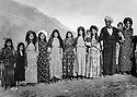 Iraq 1966<br /> Abdul Wahab Rowanduzi in Halgurd with his 2 wives, 3rd from right, Douria Aref, his Iranian wife   Irak 1966 Abdul Wahab Rowanduzi a  Halgurd avec ses 2 femmes , 3eme a droite Douria Aref, sa femme iranienne.