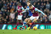 4th November 2017, Villa Park, Birmingham, England; EFL Championship football, Aston Villa versus Sheffield Wednesday; Conor Hourihane of Aston Villa keeps control of the ball