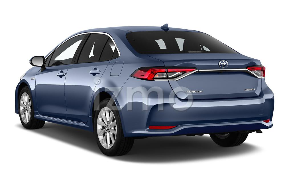 Car pictures of rear three quarter view of a 2019 Toyota Corolla Dynamic 4 Door Sedan angular rear