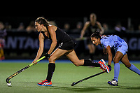 Jenny Storey during the international hockey match between the Blacksticks Women and India, Rosa Birch Park, Pukekohe, New Zealand. Tuesday 16  May 2017. Photo:Simon Watts / www.bwmedia.co.nz