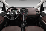 Stock photo of straight dashboard view of 2016 Mitsubishi iMiEV 5 Door Micro Car Dashboard