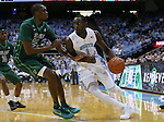 16 December 2015: North Carolina's Theo Pinson (1) and Tulane's Jernard Jarreau (22). The University of North Carolina Tar Heels hosted the Tulane University Green Wave at the Dean E. Smith Center in Chapel Hill, North Carolina in a 2015-16 NCAA Division I Men's Basketball game. UNC won the game 96-72.